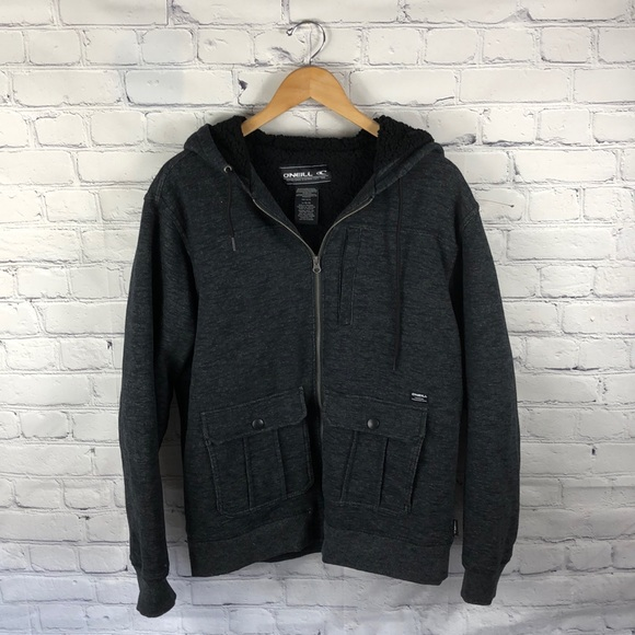 O'Neill Other - O'Neill | Gray Zip Up Hooded Jacket sz L